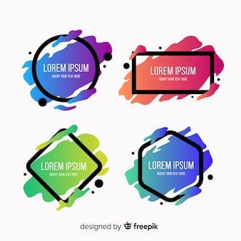 Geometric abstract badge set