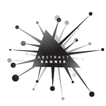 幾何学的な抽象バナー