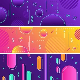 기하학적 추상 배너 패턴 개념