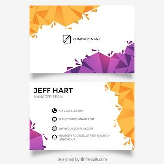 Geometric abstract card