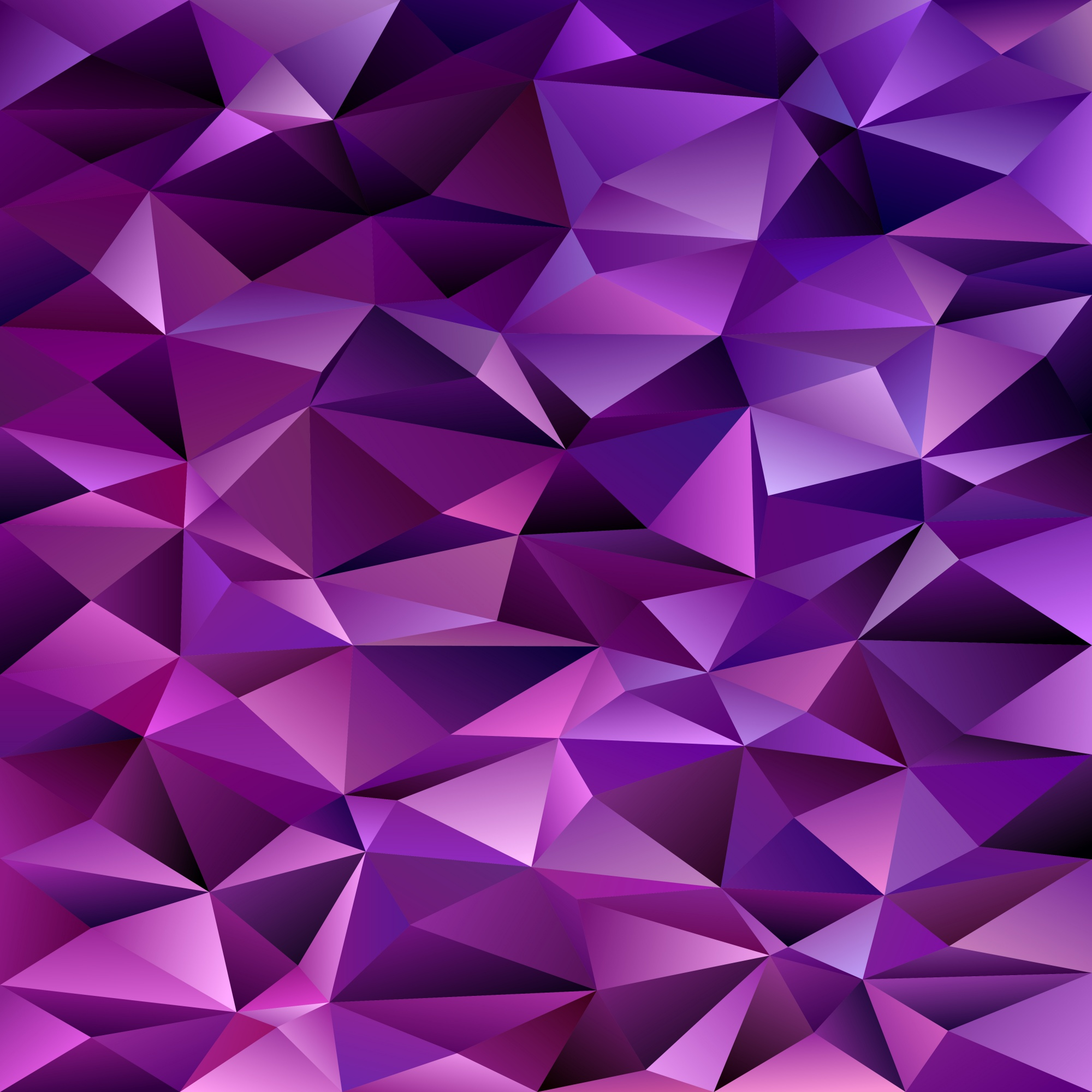 Geometric abstract chaotic triangle pattern background - mosaic vector graphic design from colored triangles