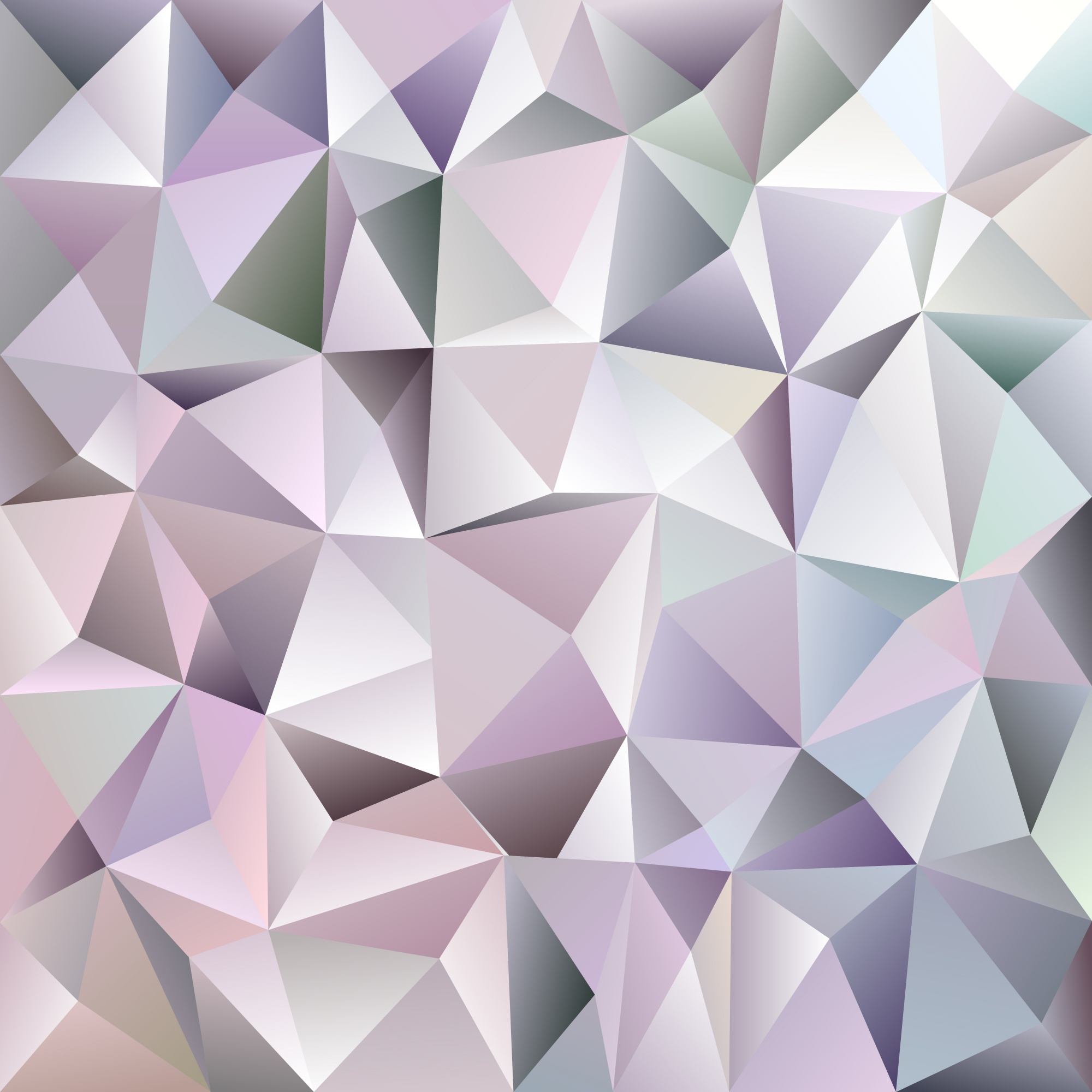 Geometric abstract chaotic triangle pattern background - mosaic vector graphic design