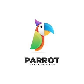 Geometric abstract colorful parrot