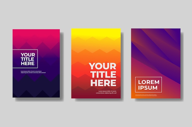Geometric abstract cover collection