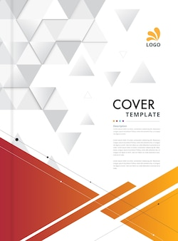 Geometric abstract cover template