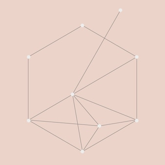 Geometric abstract element vector, technology concept, connecting dots design