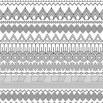 기하학적 추상 민족 동양 원활한 패턴