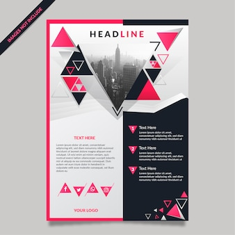 Geometric abstract flayer template