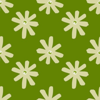 데이지 꽃과 기하학적 추상 꽃 원활한 패턴