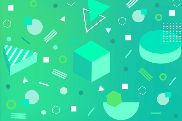 Geometric abstract green background