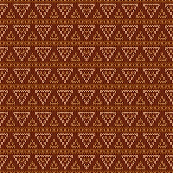 Geometric abstract knitted pattern.