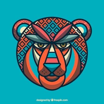 Geometric abstract lion