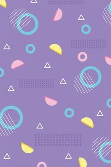 Geometric abstract memphis 80s 90s style abstract background