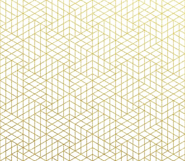 幾何学的な抽象的なパターンゴールド背景
