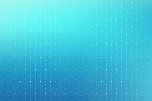 Geometric abstract pattern with connected line and dots. seamless background.