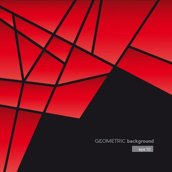 Geometric abstract red shapes background