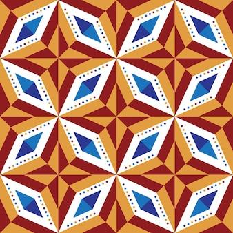기하학적 추상 반복 마름모 다채로운 원활한 패턴