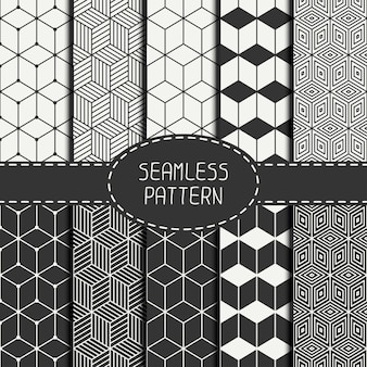 Geometric abstract seamless cube pattern with rhombuses