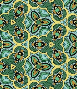 Geometric abstract seamless pattern. kaleidoscope