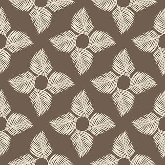 밝은 회색 고비 잎 장식으로 기하학적 추상 완벽 한 패턴입니다.