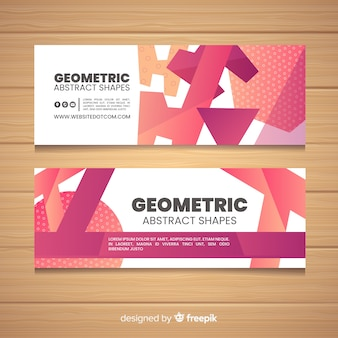 Geometric abstract shapes banner