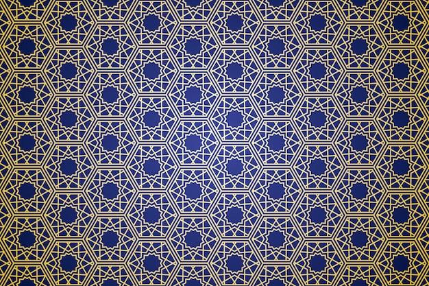 ミニマリズムの雰囲気を持つ幾何学的抽象プレミアムベクトルのイスラムモチーフのシームレスなパターン Premiumベクター