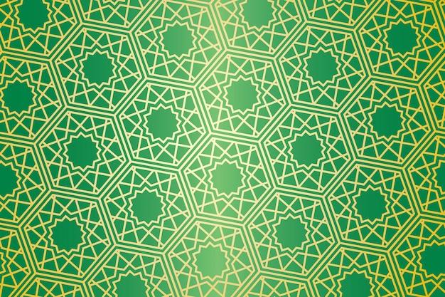 ミニマリズムの雰囲気を持つ幾何学的抽象プレミアムベクトルのイスラムモチーフのシームレスなパターン