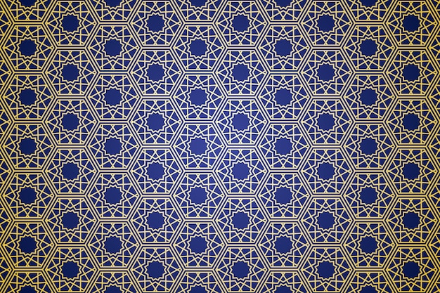 Geometric abstract with minimalism vibes islamic motif seamless pattern in premium vector