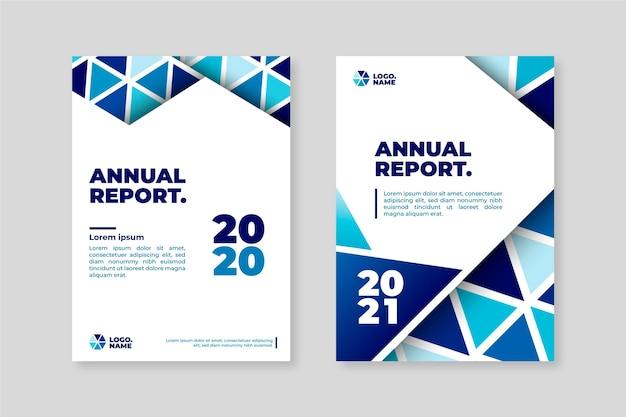 Геометрические шаблоны годового отчета 2020-2021