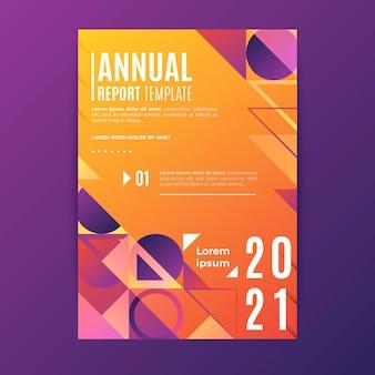 幾何学的な年次報告書2020および2021テンプレート