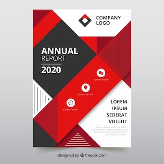 Geometric annual report cover template