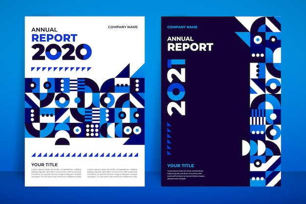 Geometric annual report template