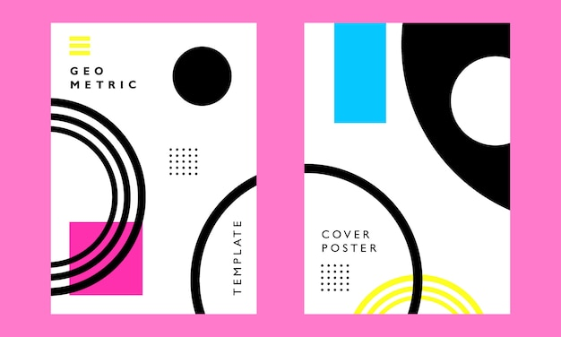 Geometric art cover poster