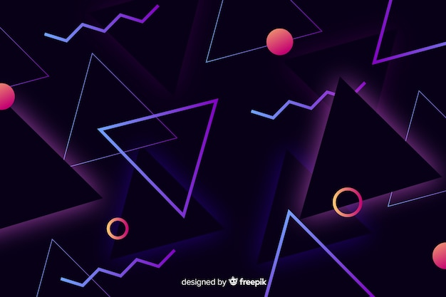 Geometric background in 80s style