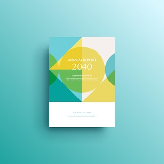 Geometric background book cover brochure flyer template cover design