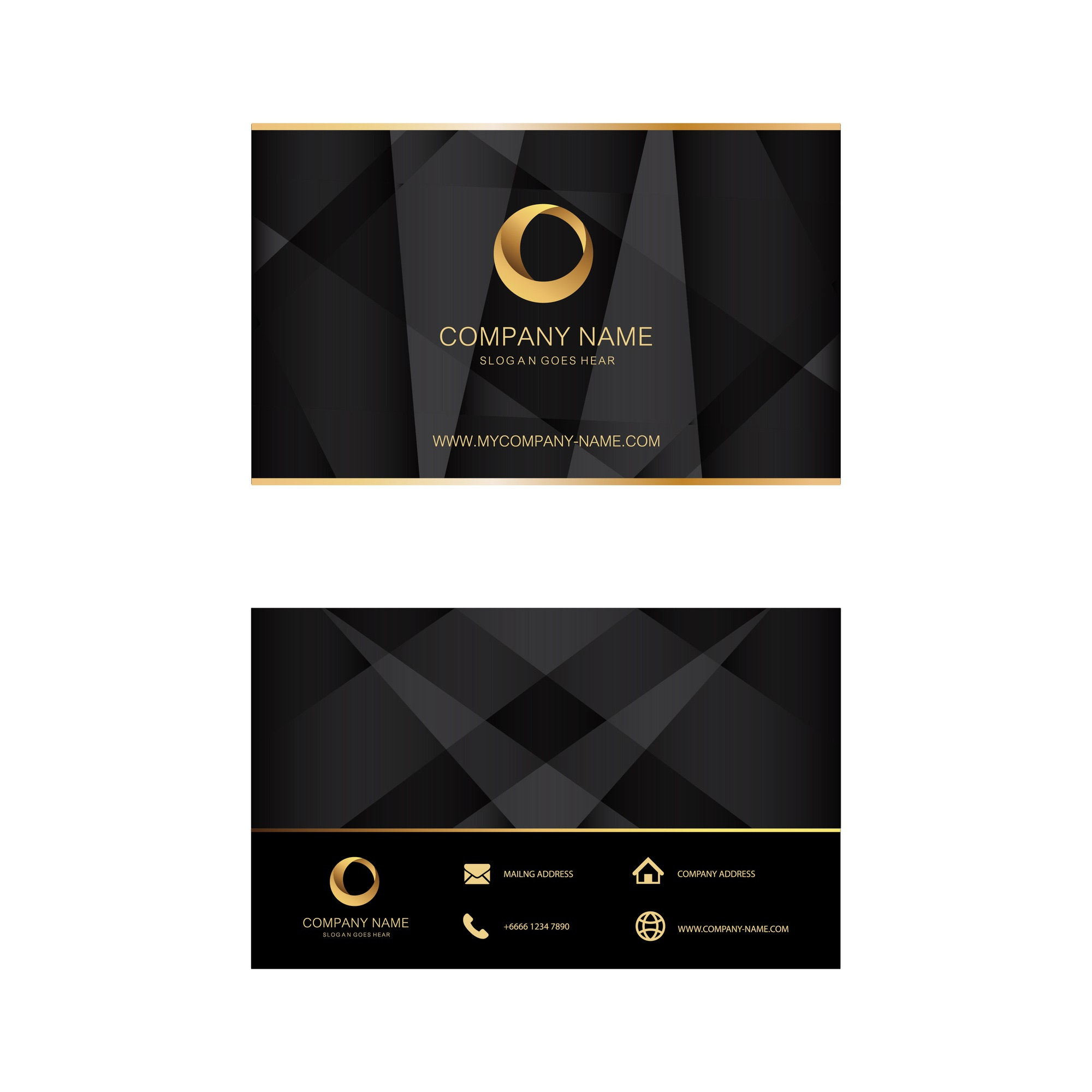 Geometric background business card template