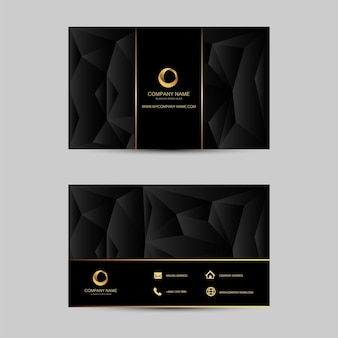 Geometric background business card template.