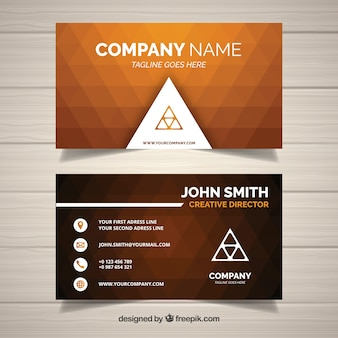 Geometric background business card
