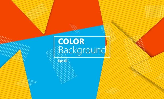 Геометрический фон. шаблон макета обложки. 3d иллюстрации. яркие красочные обои. абстрактный фон вырезки из бумаги. материальный дизайн. вектор.