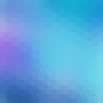 Geometric background in different blue tones