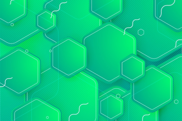 Geometric background in green shades