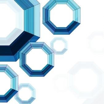 푸른 색조의 기하학적 배경