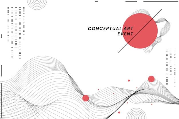 일본 스타일의 기하학적 배경