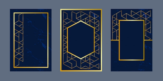 Geometric background invitation cards