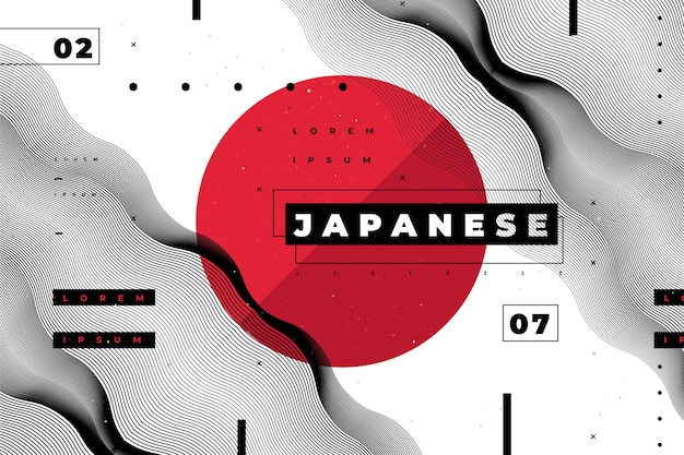 Geometric background in japanese style