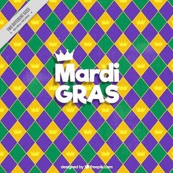 Geometric background of mardi gras