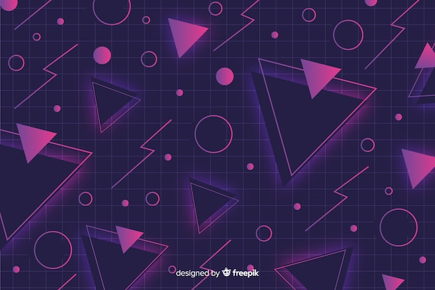 Geometric background in memphis style