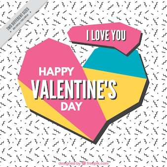 Geometric background memphis valentine