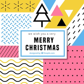 Geometric background merry christmas