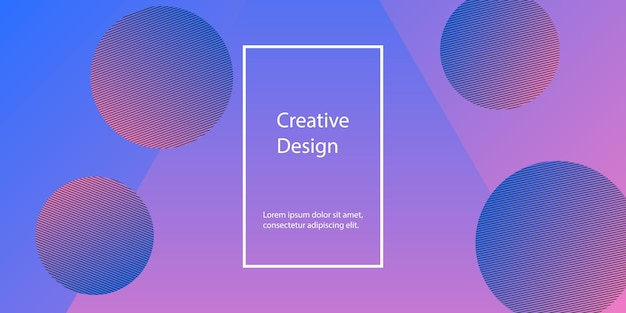 Геометрический фон. минималистичный абстрактный дизайн обложки. креативные красочные обои. модный градиентный плакат. векторная иллюстрация.